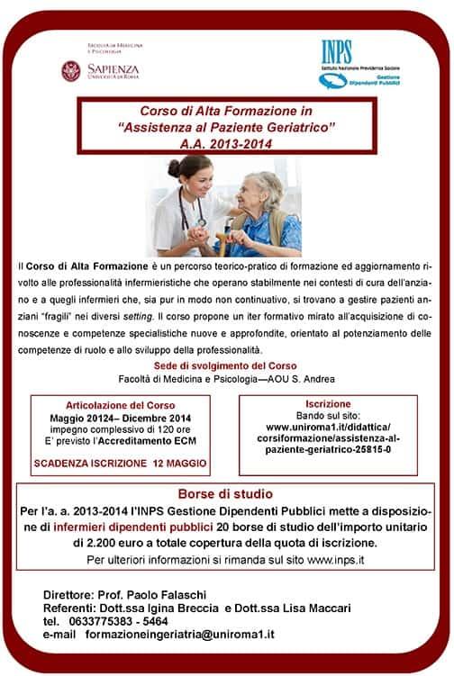 Corso di Alta Formazione in Assistenza al Paziente Geriatrico
