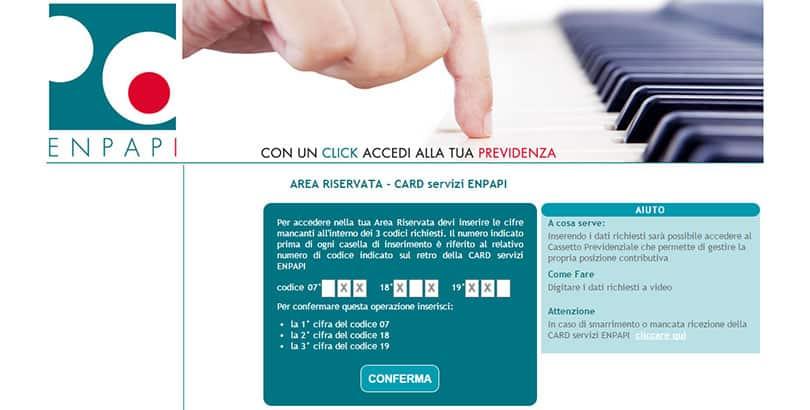 Come utilizzare l'Area Riservata e la CARD servizi ENPAPI
