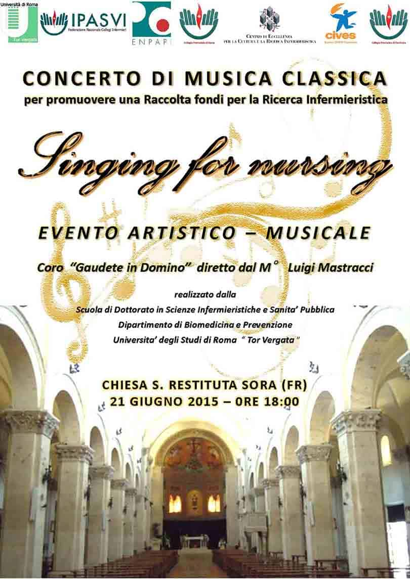 Singing for Nursing - Raccolta fondi per promuovere la Ricerca Infermieristica